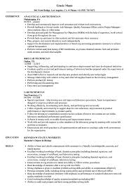 exle of a student resume lab technician resume sles velvet