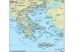 greece map political buy greece maps