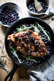roasted turkey breast with blueberry balsamic glaze feasting at home