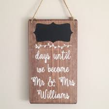 wedding countdown personalised wedding countdown chalkboard handmade sign by bobby