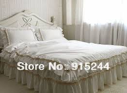 Ruffle Duvet Cover King Aliexpress Com Buy White Lace Curtain Finished Products Wave