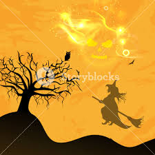 party silhouette banner or background for halloween party night with silhouette of