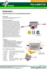 4b pullswitch conveyor safety stop switch 4b braime components