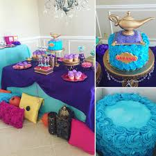 shimmer shine dessert table with publix cake decorated with