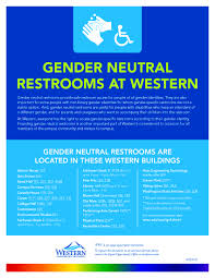Gender Neutral Bathrooms On College Campuses Gender Neutral Restrooms Equal Opportunity Office
