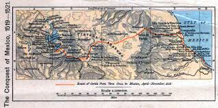 Mexico Map 1800 Map Of The Conquest Of Mexico 1519 1521
