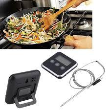 thermometre sonde cuisine 1 pc affichage numérique c f sonde du thermomètre alimentaire