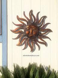 large metal sun wall decor rustic garden art indoor outdoor patio