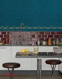 cuisine bleu petrole carrelage bleu canard pour idees de deco de cuisine élégant