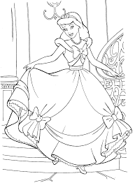 cinderella color pages free to download 4727