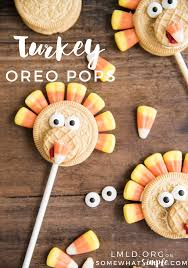turkey oreo pops a thanksgiving treat somewhat simple