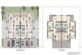 Villa Floor Plan by Floor Plans Cedre Villas For Sale U0026 Rent Dubai Silicon Oasis
