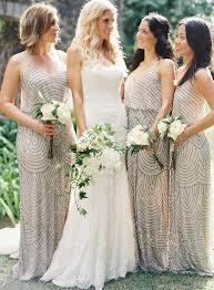 metallic gold bridesmaid dresses 2016 wedding trends sequined and metallic bridesmaid dresses