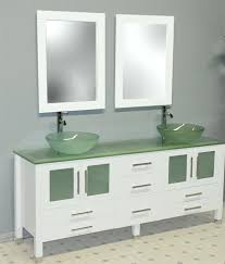 Double Vanity Basins Vanities Double Basin Vanity In Espresso With Glass Vanity Top