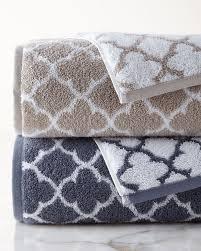 Powder Room Hand Towels Iron Gate Bath Towel White Silver Neiman Marcus Towels
