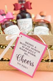 wine bottle favors the most adorable diy mini wine bottle bridesmaid gift