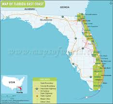 map of east coast states map of florida east coast florida east coast map