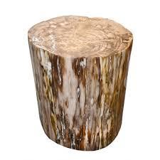 bout de canapé bois de canapé tronc en bois pétrifié pc bois