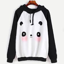 panda sweater sweatshirt jumper sweater panda crop top coat sports