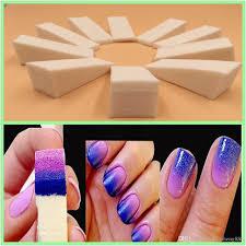 gradient nail sponges natural magic simple creative nail design uv