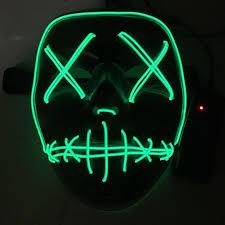 Halloween Neon Costume Halloween Neon Lights Mask Promotion Shop Promotional