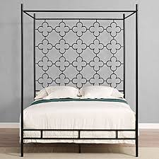 Iron Canopy Bed Frame Amazon Com Metal Canopy Bed Frame Full Sized Adult Kids Princess