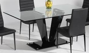 Rectangle Glass Dining Room Tables Simple Design Black Rectangle Dining Table Stunning Ideas Small