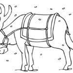 santa reindeer coloring pages gekimoe u2022 19793