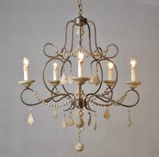 Country French Chandelier by Avery French Country 5 Light Wood And Iron Chandelier Amazon Com