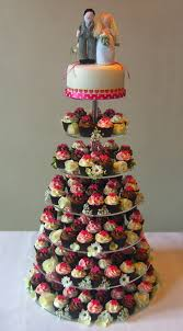 pink mini wedding cupcake tower with top cake mini cup u2026 flickr