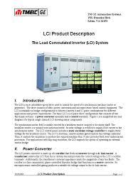 load commutated inverter power inverter rectifier
