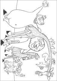 madagascar cartoon characters kids coloring
