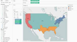 4 Corner States Map by Get Started Mapping With Tableau