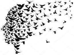 black birds silhouettes u2014 stock vector huhulin 86945058
