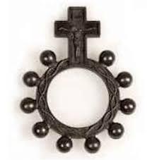 rosary ring black plastic rosary rings