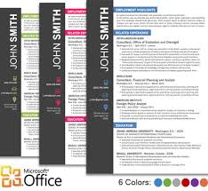 Resume Templates In Ms Word Cvfolio Best 10 Resume Templates For Microsoft Word