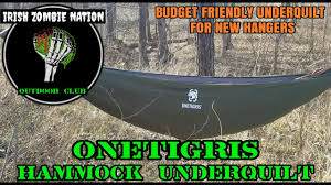 onetigris hammock underquilt budget friendly for new hangers
