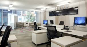 modern office interior design with elegant professional look led retrofits for commercial applications the basics alcon office suspended fixture small office designs