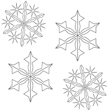 color snowflakes free coloring pages on art coloring pages