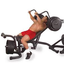 Flat Bench Barbell Press Olympic Leverage Flat Bench