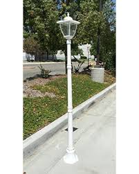 solar powered outdoor l post lights check out these deals on truepower cast aluminum solar powered