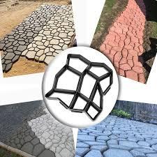 Cleaning Concrete Patio Mold Amazon Com Wovte Diy Walk Maker Concrete Stepping Stone Mold