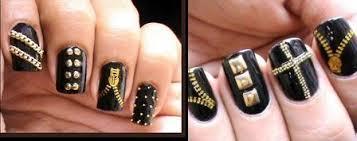 bn beauty try this goth themed zip u0026 stud nail art tutorial