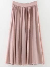 lange rok rokken effen kleur mesh lange rok licht roze mooi en kleurrijk