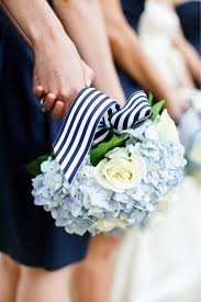 navy and white striped ribbon everyday wedding shea blue wedding flowers navy blue