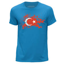 stuff4 men u0027s round neck t shirt turkey turkish flag splat cs ebay