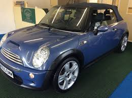 used mini convertible blue for sale motors co uk