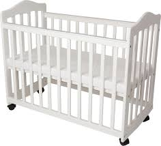 Crib With Mattress L A Baby Bedside Manor Compact Cradle Crib With Mattress