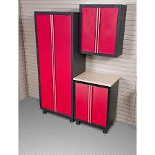 Garage Cabinet Set Coleman 3pc Garage Cabinet Set With 2 Door Base Unit Red