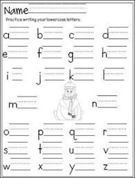 free penguin lowercase letter writing printable great for cold